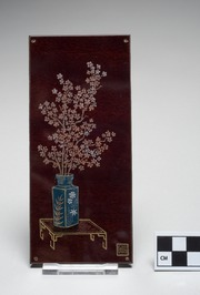 Select Stenogravure of Vase with Cherry Blossoms