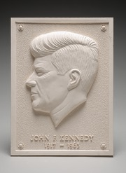 Select Wall Plaque with Relief of John F. Kennedy